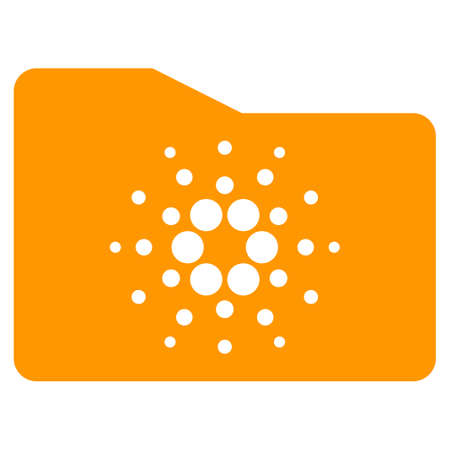 Cardano Folder flat vector pictograph. An isolated icon on a white background. Illustration