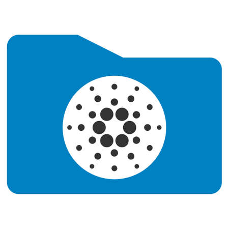 Cardano Purse flat vector icon. An isolated icon on a white background.