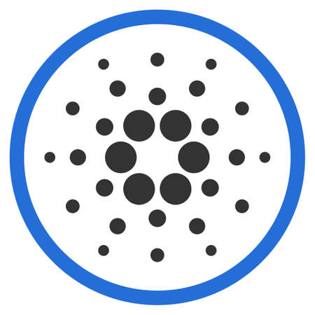 Cardano Rounded flat vector pictograph. An isolated icon on a white background.