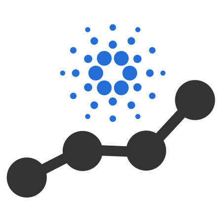 Cardano Trend flat vector illustration. An isolated icon on a white background.