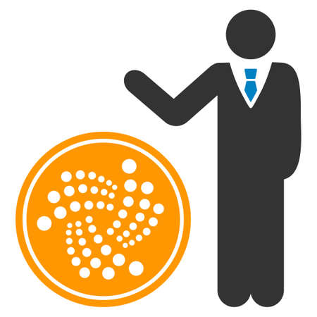 Businessman Show Coin flat vector icon. An isolated icon on a white background.