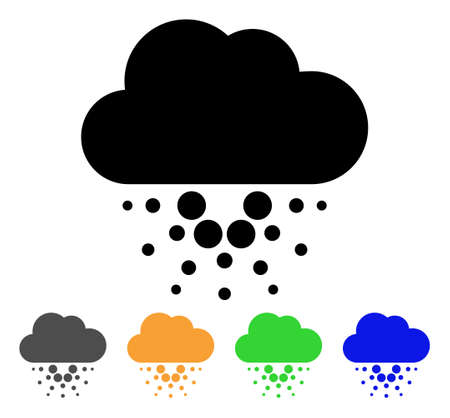 Cardano Cloud icon. Vector illustration style is a flat iconic cardano cloud black symbol with gray, yellow, green, blue color variants. Designed for web and software interfaces.
