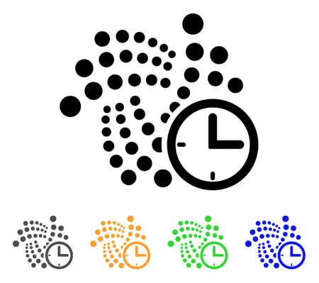 Iota Clock icon. Vector illustration style designed for web and software interfaces. Illustration