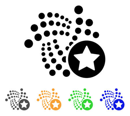 Iota Favourites Star icon. Vector illustration style designed for web and software interfaces.