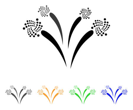 Iota Festive Fireworks icon. Vector illustration style designed for web and software interfaces.
