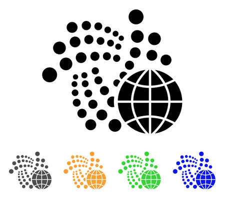 Iota Global icon. Vector illustration style  designed for web and software interfaces.