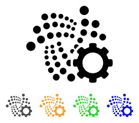Iota Options Gear icon. Vector illustration designed for web and software interfaces.