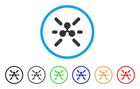 Ripple Shine rounded icon. Style is a flat grey symbol inside light blue circle with additional color variants. Ripple Shine vector designed for web and software interfaces.