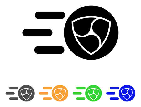 Nem Trace icon. Vector illustration style is a flat iconic nem trace black symbol with grey, yellow, green, blue color variants.