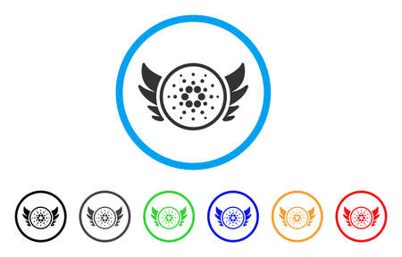 Angel Investment rounded icon. Style is a flat grey symbol inside light blue circle with bonus color variants. Angel Investment vector designed for web and software interfaces. Illustration