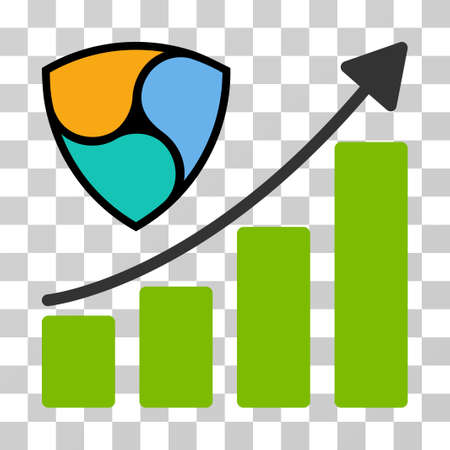 Nem Growth Up Chart vector icon. Illustration style is flat iconic symbol on a chess transparent background.
