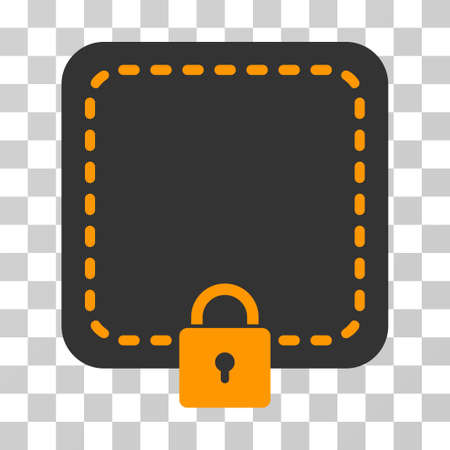 Locked Wallet vector pictograph. Illustration style is flat iconic symbol on a chess transparent background.