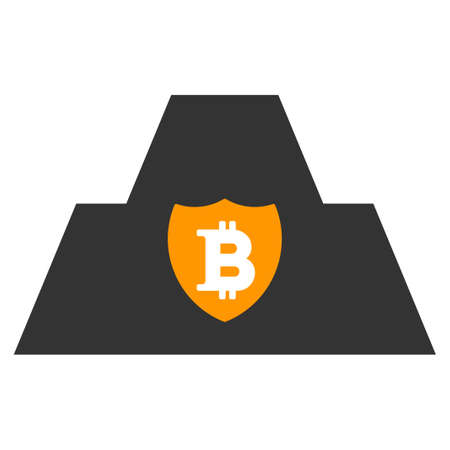 Bitcoin Citadel flat raster pictogram. An isolated icon on a white background.