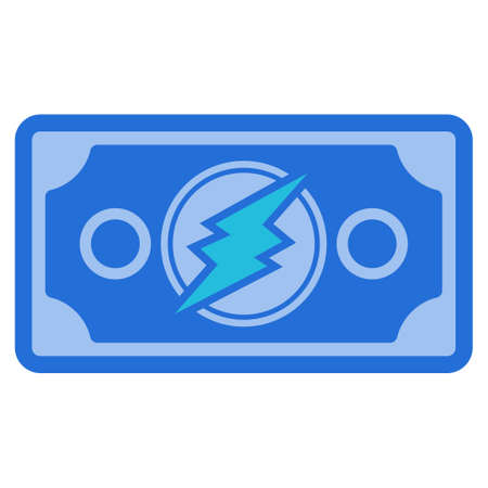 Electroneum Banknote flat raster pictograph. An isolated icon on a white background. Imagens