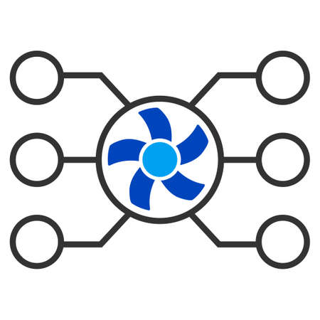 Mixer Masternode Network flat raster pictograph. An isolated icon on a white background.