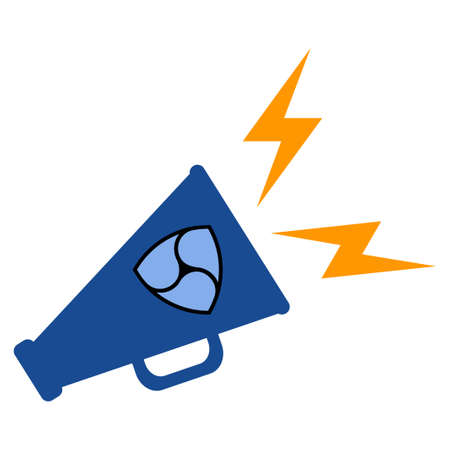 Nem Megaphone Alert flat raster pictograph. An isolated icon on a white background.