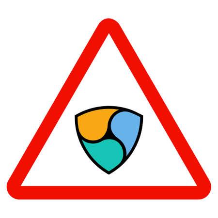 Nem Warning flat raster illustration. An isolated icon on a white background.