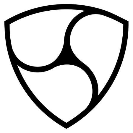 Nem flat raster pictogram. An isolated icon on a white background. Stock Photo