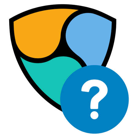 Nem FAQ flat raster illustration. An isolated icon on a white background.