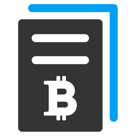 Bitcoin Prices flat raster pictogram. An isolated icon on a white background.