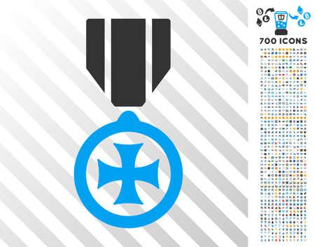 Maltese Cross pictograph with 700 bonus bitcoin mining and blockchain clip art.