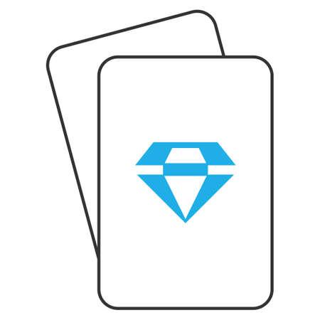 화려한 놀이터 그림 문자. 벡터 스타일은 화려한 기호로 도박 카드입니다.