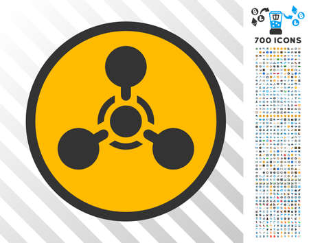 Wmd Nerve Agent Chemical Warfare pictograph with 700 bonus bitcoin mining and blockchain clip art. Vector illustration style is flat iconic symbols design for bitcoin software.