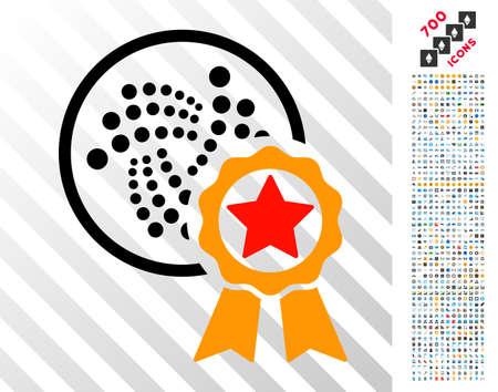 Iota Star Reward pictograph with 7 hundred bonus bitcoin mining
