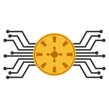 Electronic Roulette Casino vector icon. Style is flat graphic symbol.
