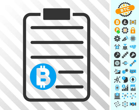 Bitcoin Price List playing cards icon with bonus bitcoin mining and blockchain design elements. Flat vector icons for blockchain websites. Illustration