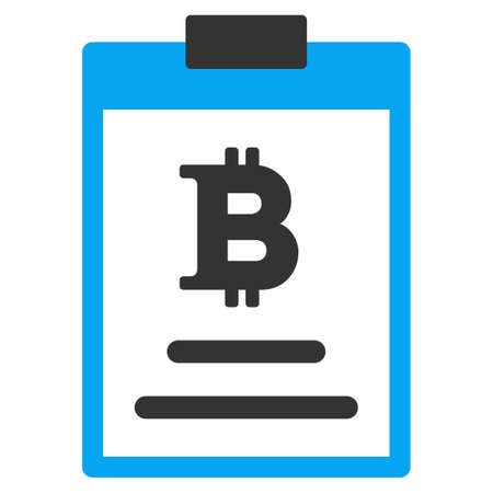 Bitcoin Price Pad vector icon. Style is flat graphic symbol.