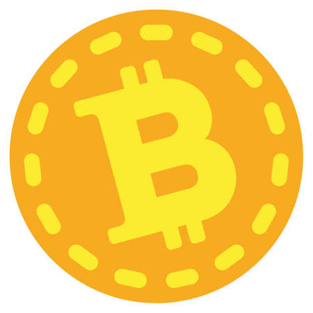 Bitcoin Coin vector icon. Style is flat graphic symbol.