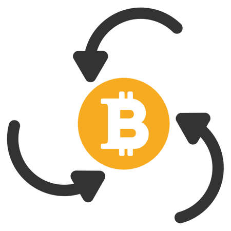 Bitcoin Income Swirl vector icon. Style is flat graphic symbol.