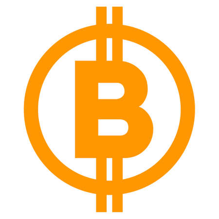 Bitcoin Symbol vector icon. Style is flat graphic symbol.