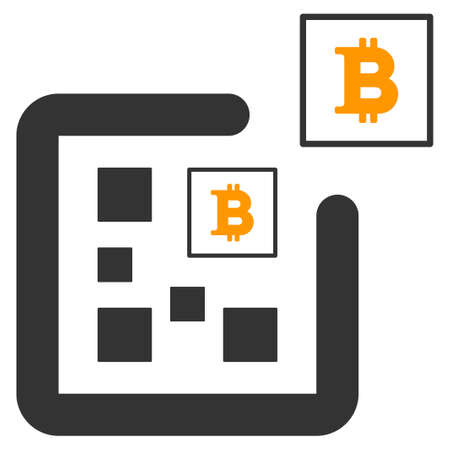 Digital Bitcoin vector icon. Style is flat graphic symbol. Ilustracja