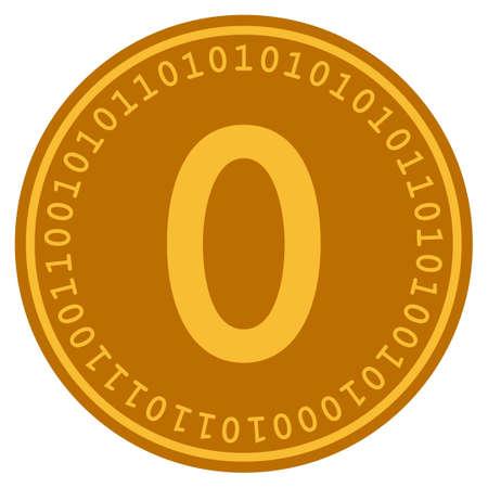 Zero Digital Coin vector icon. Style is flat graphic symbol. Vectores