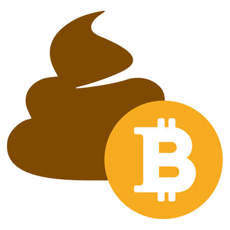 Bitcoin Shit raster icon. Style is flat graphic symbol.