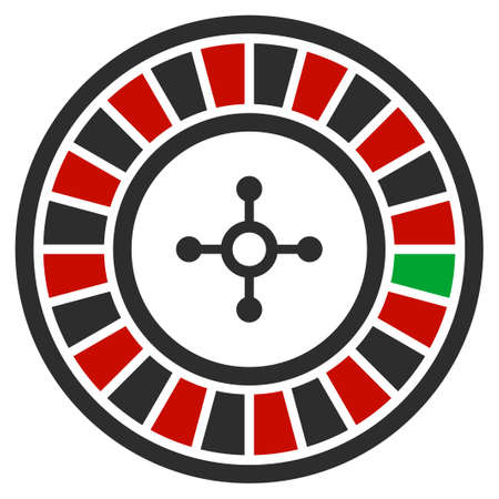 Roulette flat vector pictogram. An isolated icon on a white background.