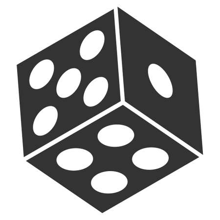 Dice flat vector pictograph. An isolated icon on a white background.