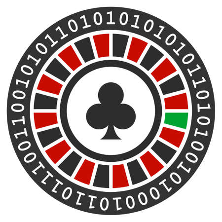 Digital Casino Roulette flat vector illustration. An isolated icon on a white background.