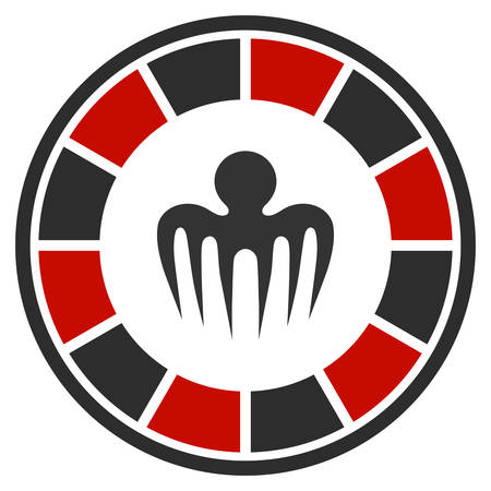 Spectre Casino flat vector pictograph. An isolated icon on a white background.