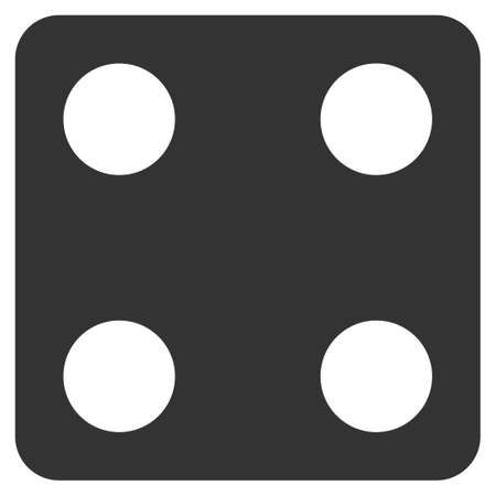 Dice flat vector pictogram. An isolated icon on a white background.