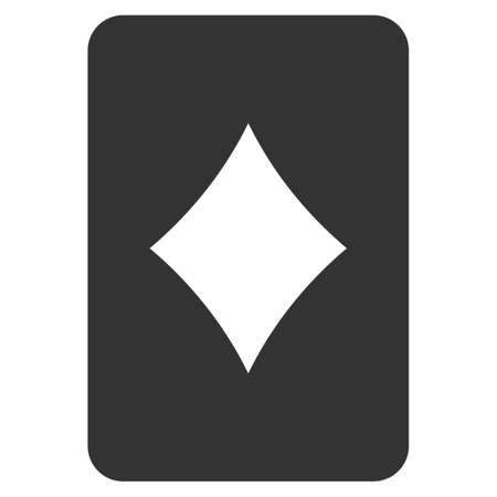 Diamonds Gambling Card flat vector pictograph. An isolated icon on a white background.