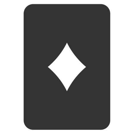 Diamonds Playing Card flat vector pictograph. An isolated icon on a white background.