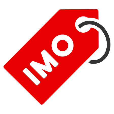 Imo Tag flat vector pictograph. An isolated icon on a white background. Illustration