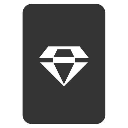 Ruby Gaming Card flat vector pictograph. An isolated icon on a white background. Ilustrace