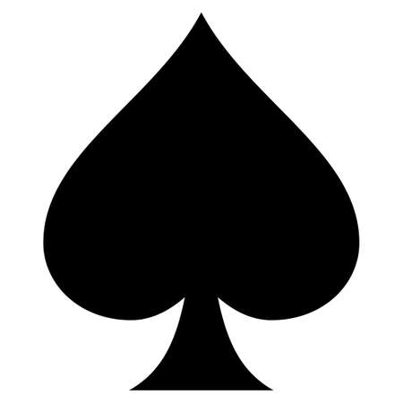 Spades suit flat vector pictograph. An isolated icon on a white background.