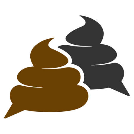 Shit Chat flat raster illustration. An isolated icon on a white background.