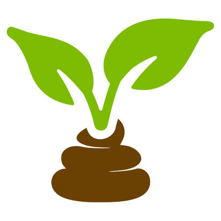 Garden Natural Fertilizer flat vector icon. An isolated icon on a white background.