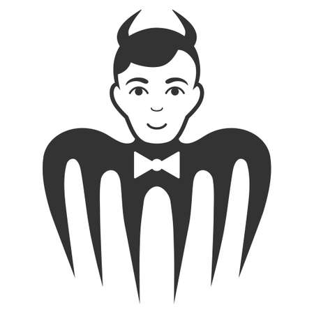 Manager Spectre Devil flat vector icon. An isolated icon on a white background.  イラスト・ベクター素材